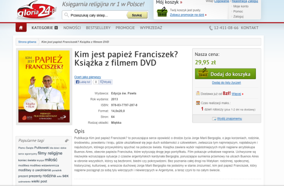 DVD Polonia Papa Francisco